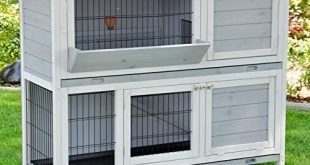 51oJvdJYK+L 310x165 - nanook Kaninchenstall Hasenstall Meerschweinchen Kleintierkäfig Bommel grau, mit Heuraufe, wetterfest, 122 x 50 x 103 cm