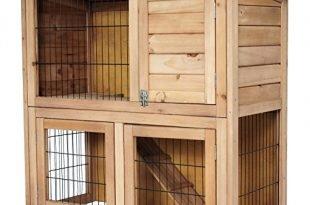 EUGAD Hasenstall Kaninchenkäfig Hasenkäfig Kaninchenstall Holz 91 x 45 x 87cm 0040HT
