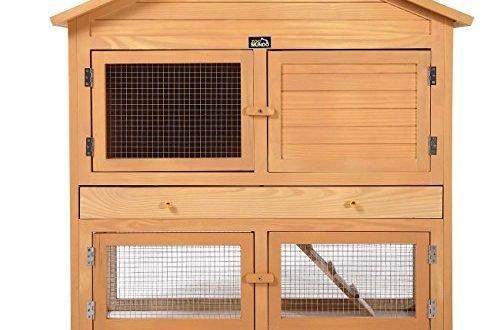 zoomundo Hasenstall Kaninchenstall 4-Türig mit Freilaufgehege Kleintierstall Hamsterstall Nagerkäfig Tierkäfig Auslauf Mäusekäfig Rattenkäfig Hasenkäfig aus Holz