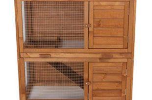 Hasenstall Kaninchenstall Kaninchenkäfig Käfig Kleintierhaus Nagerkäfig Meerschweinchen Villa mit Ausziehschubladen